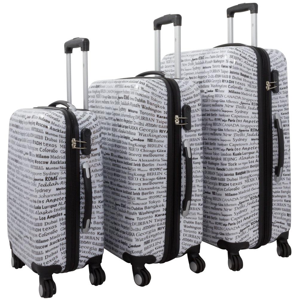reisekoffer koffer kofferset polycarbonat abs city. Black Bedroom Furniture Sets. Home Design Ideas